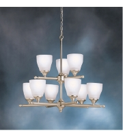 Kichler Lighting Ansonia 9 Light Chandelier in Brushed Nickel 1749NI alternative photo thumbnail