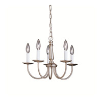 Salem 5 Light 17 inch Brushed Nickel Chandelier Ceiling Light