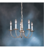 Kichler 1770NI Salem 5 Light 17 inch Brushed Nickel Chandelier Ceiling Light alternative photo thumbnail
