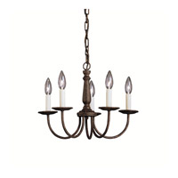 Kichler 1770TZ Salem 5 Light 17 inch Tannery Bronze Chandelier Ceiling Light