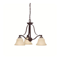 Kichler Lighting Langford 3 Light Chandelier in Canyon Slate 1781CST