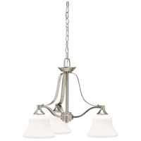 Kichler 1781NI Langford 3 Light 22 inch Brushed Nickel Chandelier Ceiling Light