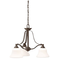 Kichler 1781OZ Langford 3 Light 22 inch Olde Bronze Chandelier Ceiling Light photo thumbnail