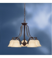 Kichler Lighting Langford 5 Light Chandelier in Canyon Slate 1782CST alternative photo thumbnail