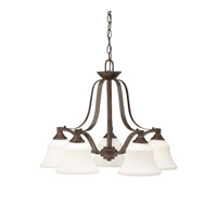 Kichler Lighting Langford 5 Light Chandelier in Olde Bronze 1782OZ photo thumbnail