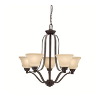Kichler Lighting Langford 5 Light Chandelier in Canyon Slate 1783CST photo thumbnail