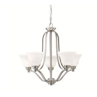 Langford LED 28 inch Brushed Nickel Chandelier Ceiling Light, Medium