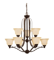 Kichler Lighting Langford 9 Light Chandelier in Canyon Slate 1784CST alternative photo thumbnail
