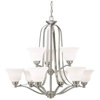 Langford 9 Light 33 inch Brushed Nickel Chandelier Ceiling Light