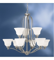 Kichler 1784NI Langford 9 Light 33 inch Brushed Nickel Chandelier Ceiling Light alternative photo thumbnail