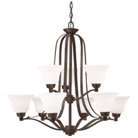 Kichler 1784OZ Langford 9 Light 33 inch Olde Bronze Chandelier Ceiling Light