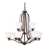 Kichler 1784OZL16 Langford LED 33 inch Olde Bronze Chandelier Ceiling Light