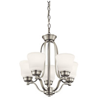Kichler 1788NI Langford 5 Light 17 inch Brushed Nickel Mini Chandelier Ceiling Light