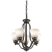 Kichler 1788OZ Langford 5 Light 17 inch Olde Bronze Mini Chandelier Ceiling Light