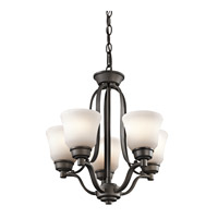 Kichler 1788OZL16 Langford LED 17 inch Olde Bronze Mini Chandelier Ceiling Light