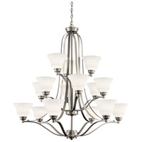 Kichler 1789NI Langford 15 Light 42 inch Brushed Nickel Chandelier Ceiling Light