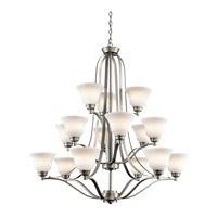 Kichler 1789NIL16 Langford LED 42 inch Brushed Nickel Chandelier Ceiling Light