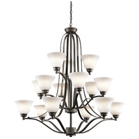 Kichler 1789OZ Langford 15 Light 42 inch Olde Bronze Chandelier Ceiling Light
