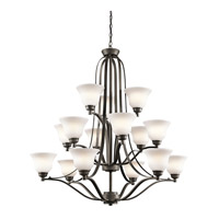 Kichler 1789OZL16 Langford LED 42 inch Olde Bronze Chandelier Ceiling Light