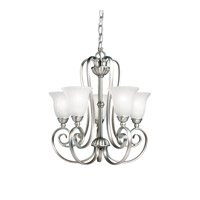 Kichler 1825NI Willowmore 5 Light 17 inch Brushed Nickel Mini Chandelier Ceiling Light