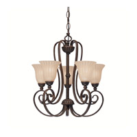 Willowmore 5 Light 17 inch Tannery Bronze Mini Chandelier Ceiling Light