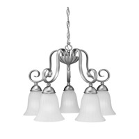 Kichler Lighting Willowmore 5 Light Chandelier in Brushed Nickel 1826NI