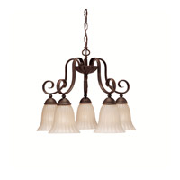Willowmore 5 Light 22 inch Tannery Bronze Chandelier Ceiling Light