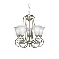 Kichler Lighting Willowmore 5 Light Chandelier in Brushed Nickel 1827NI