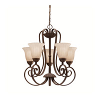 Kichler 1827TZ Willowmore 5 Light 22 inch Tannery Bronze Chandelier Ceiling Light