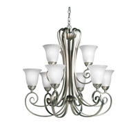 Kichler Lighting Willowmore 9 Light Chandelier in Brushed Nickel 1828NI photo thumbnail