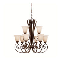 Kichler Lighting Willowmore 9 Light Chandelier in Tannery Bronze 1828TZ photo thumbnail