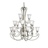 Kichler 1829NI Willowmore 15 Light 42 inch Brushed Nickel Chandelier Ceiling Light