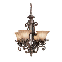 Kichler Lighting Cottage Grove 4 Light Mini Chandelier in Carre Bronze 1854CZ photo thumbnail