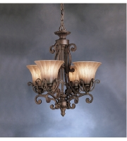 Kichler Lighting Cottage Grove 4 Light Mini Chandelier in Carre Bronze 1854CZ alternative photo thumbnail