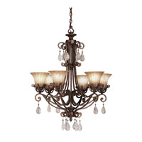 Kichler Lighting Cottage Grove 6 Light Chandelier in Carre Bronze 1855CZ alternative photo thumbnail