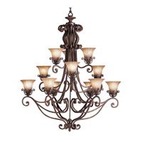 Kichler Lighting Cottage Grove 12 Light Chandelier in Carre Bronze 1857CZ photo thumbnail