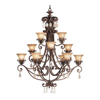 Kichler Lighting Cottage Grove 12 Light Chandelier in Carre Bronze 1857CZ alternative photo thumbnail