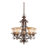 Kichler Lighting Cottage Grove 5 Light Chandelier in Carre Bronze 1859CZ photo thumbnail