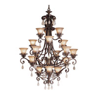Kichler Lighting Cottage Grove 18 Light Chandelier in Carre Bronze 1860CZ alternative photo thumbnail