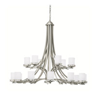 Kichler 1873NI Hendrik 18 Light 50 inch Brushed Nickel Chandelier Ceiling Light