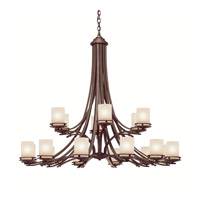 Kichler 1873OZ Hendrik 18 Light 50 inch Olde Bronze Chandelier Ceiling Light