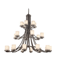 Kichler 1884OZ Hendrik 24 Light 55 inch Olde Bronze Chandelier Ceiling Light