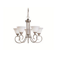 Kichler Lighting Bristol 5 Light Chandelier in Brushed Nickel 1926NI photo thumbnail