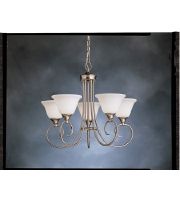 Kichler Lighting Bristol 5 Light Chandelier in Brushed Nickel 1926NI alternative photo thumbnail