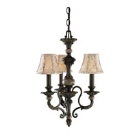 Kichler Lighting Roxton 3 Light Mini Chandelier in Colton Bronze 1931CTZ alternative photo thumbnail