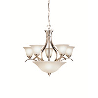 Kichler Lighting Dover 8 Light Chandelier in Brushed Nickel 2018NI