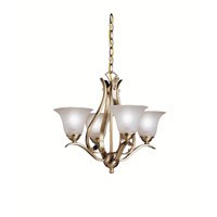 Kichler Lighting Dover 4 Light Mini Chandelier in Antique Brass 2019AB photo thumbnail