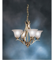 Kichler Lighting Dover 4 Light Mini Chandelier in Antique Brass 2019AB alternative photo thumbnail