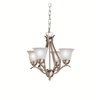 Dover 4 Light 18 inch Brushed Nickel Mini Chandelier Ceiling Light