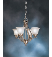 Kichler 2019NI Dover 4 Light 18 inch Brushed Nickel Mini Chandelier Ceiling Light alternative photo thumbnail